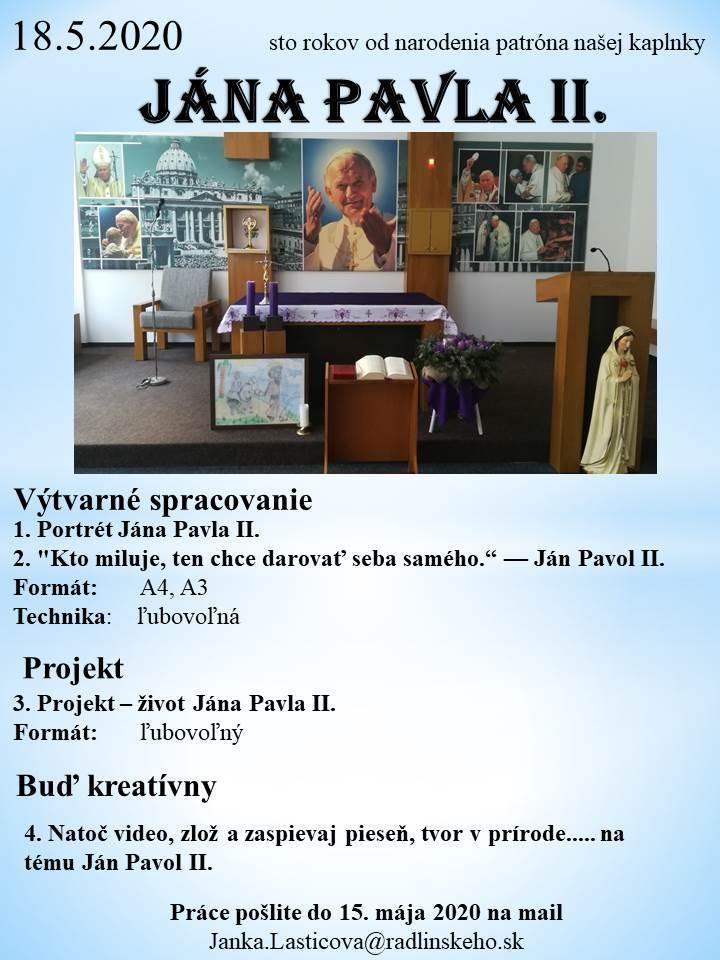 100 rokov od narodenia J.P.II.